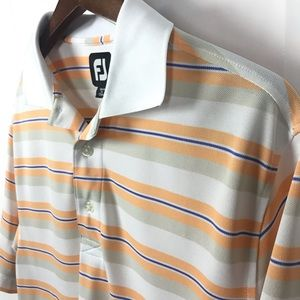 FootJoy FJ Mens Striped Polo Shirt Size Small